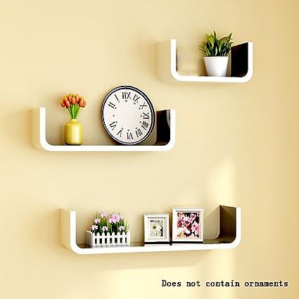 Amazon.com: ALUS- Wooden Wall Shelf/bookshelf/Floating Shelf/Plant ...