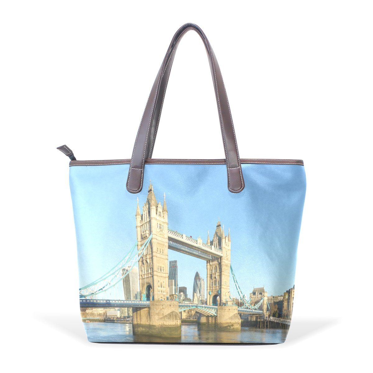 Mr.Weng Household London Bridge Lady Handbag Tote Bag Zipper Shoulder Bag