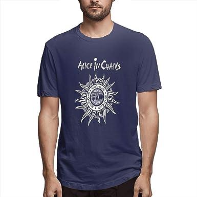 Alicia en Cadenas Camiseta Cuello Redondo Manga Corta Azul Marino: Amazon.es: Ropa y accesorios