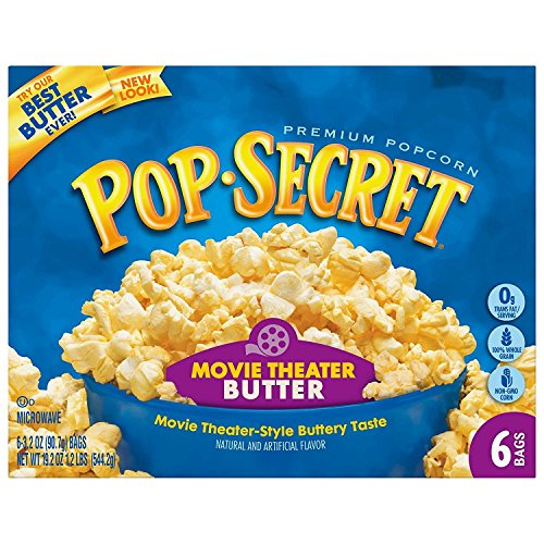 Pop Secret Microwave Popcorn, Movie Theater Butter, 6 Count (Popcorn Trail Mix)