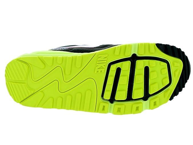 2dd60cdcd592c Nike Womens AIR MAX LUNAR90 C3.0 Sneakers Black Metallic Silver Volt 631762  006