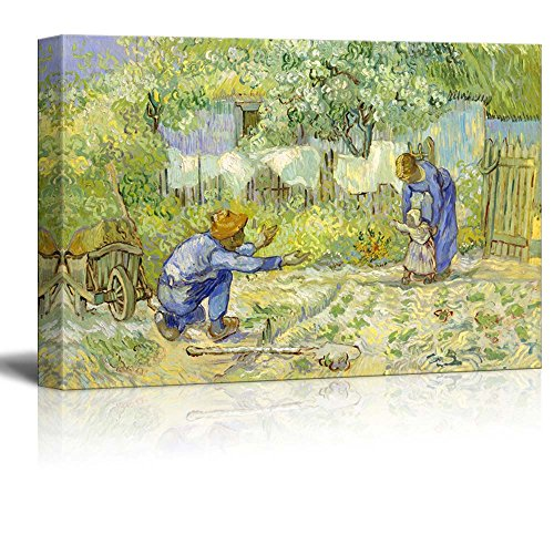 First Steps by Van Gogh Giclee ped Gallery