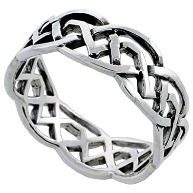 trinity contemporary white celtic gold ring and silver rings knot stone with cz