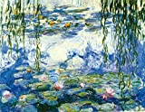 water photo - Wieco Art - Water Lilies Giclee Canvas Prints Wall Art by Claude Monet Famous Oil Paintings Flowers Reproduction Modern Clsssic Landscape Artwork Picture Printed on Canvas for Home Office Decorations