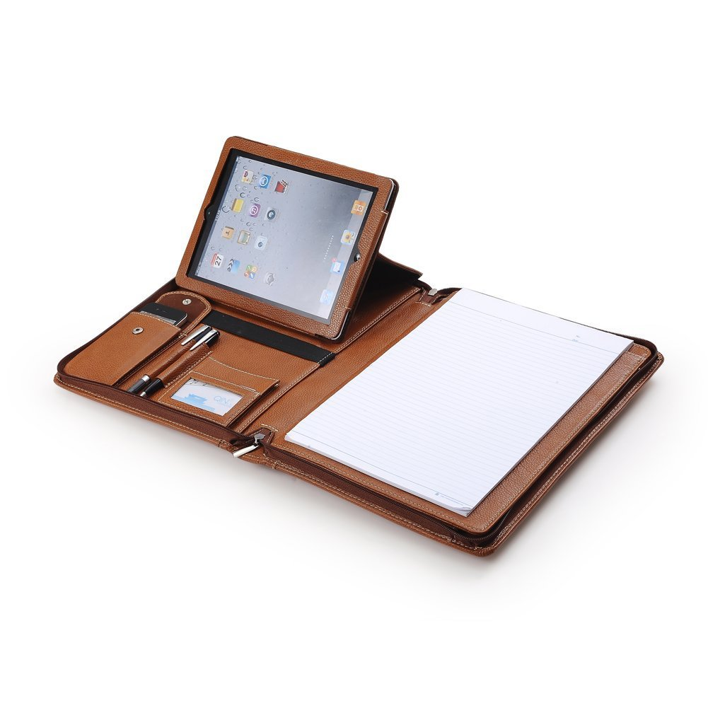 Premium Portfolio Case With Shoulder Strap for The New 9.7 iPad / iPad Air and MacBook in Brown