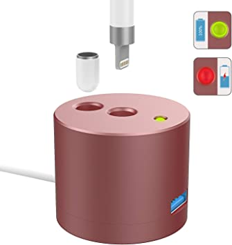 MoKo LED Indicador de Carga Base de Cargador Compatible con Apple Pencil 1st Gen, Estaci/ón de Carga de Aluminio con Soporte de Pencil para iPad Pro 12.9 10.5 9.7//iPad Air 3//Mini 5 2019 Pen, Plata
