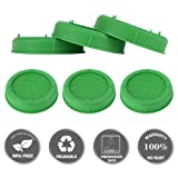 [UPGRADED] Aozita 6 Pack Plastic Sprouting Lids for Wide Mouth Mason Jars - Sprouting Jar Strainer Lid for Canning Jars - Sprouting Screen for