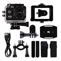 CIC Câmera Fotográfica Filmadora Sports DV full HD 1080p 30fps a prova d´água 30m mergulho LCD 2.0 Bike Moto Surf, Preto