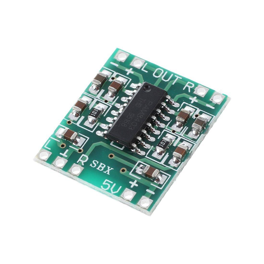 SODIAL PAM8403 Audio Module USB DC 5V Class D digital amplifier Amplifier Board LCD
