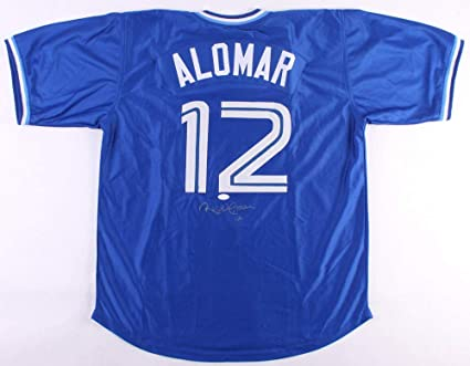 d1eddbd4215 Image Unavailable. Image not available for. Color  Roberto Alomar Autographed  Signed Toronto Blue Jays Jersey JSA COA ...