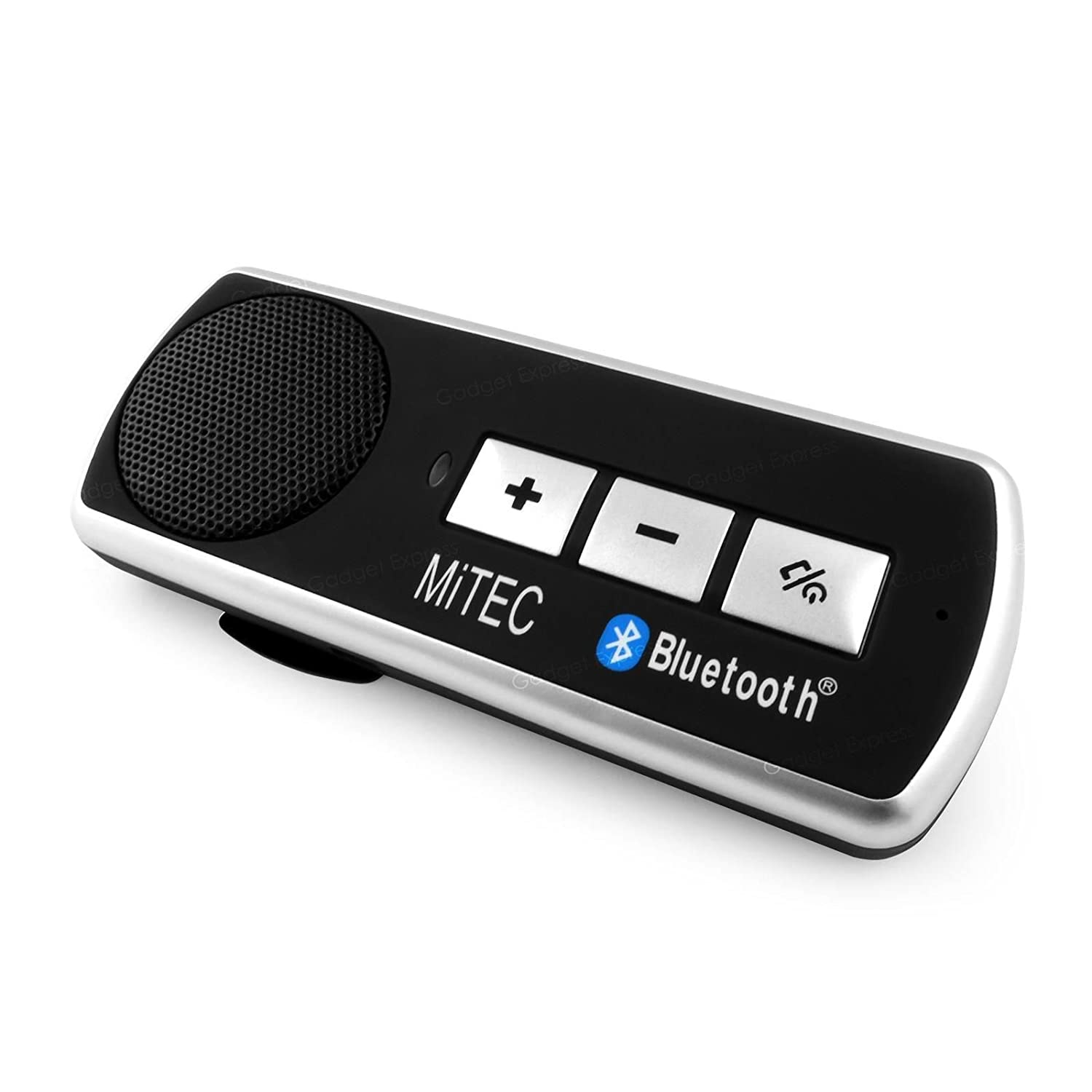 Mitec bluetooth handsfree sun visor car kit speakerphone with multipoint for all mobile phones iphone 5 6 galaxy s5 s6 note xperia htc lg amazon co uk