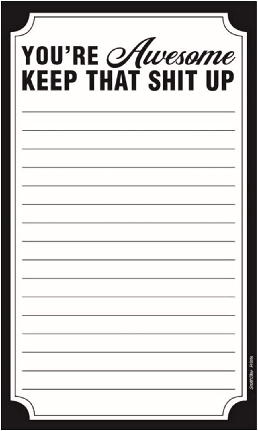 Magnetic Notepad for Refrigerator- Grocery List, Shopping List, To Do List, Honey Do List, Memo Pad for Home or Office, Funny and Motivational Gift Idea, 7.5 x 4.25 Inches (50 Sheets)