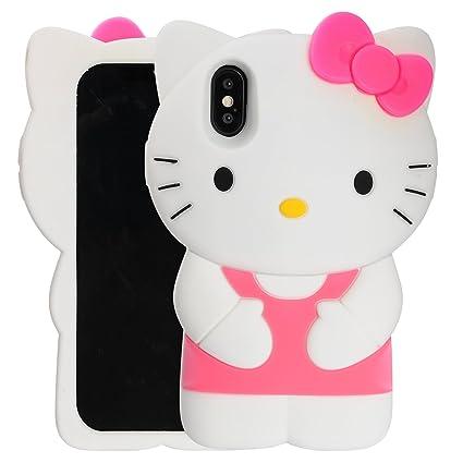 Amazon.com: Case for iPhone X XS, Phenix-Color 3D Cute ...