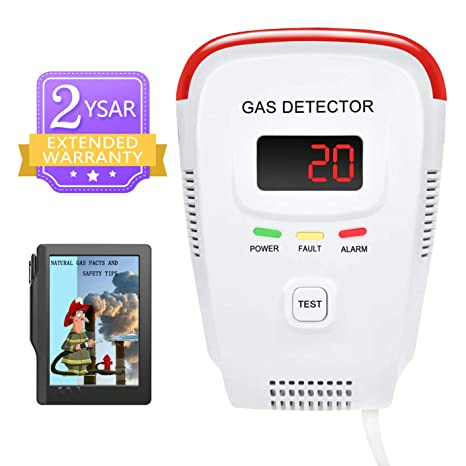 Amazon.com: Plug-in Detector de gas natural dispositivo ...