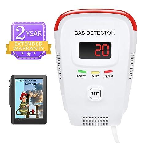 Natural Gas Detector/Propane/Methane,Leak Sensor Detector with Voice  Warning and Digital Display