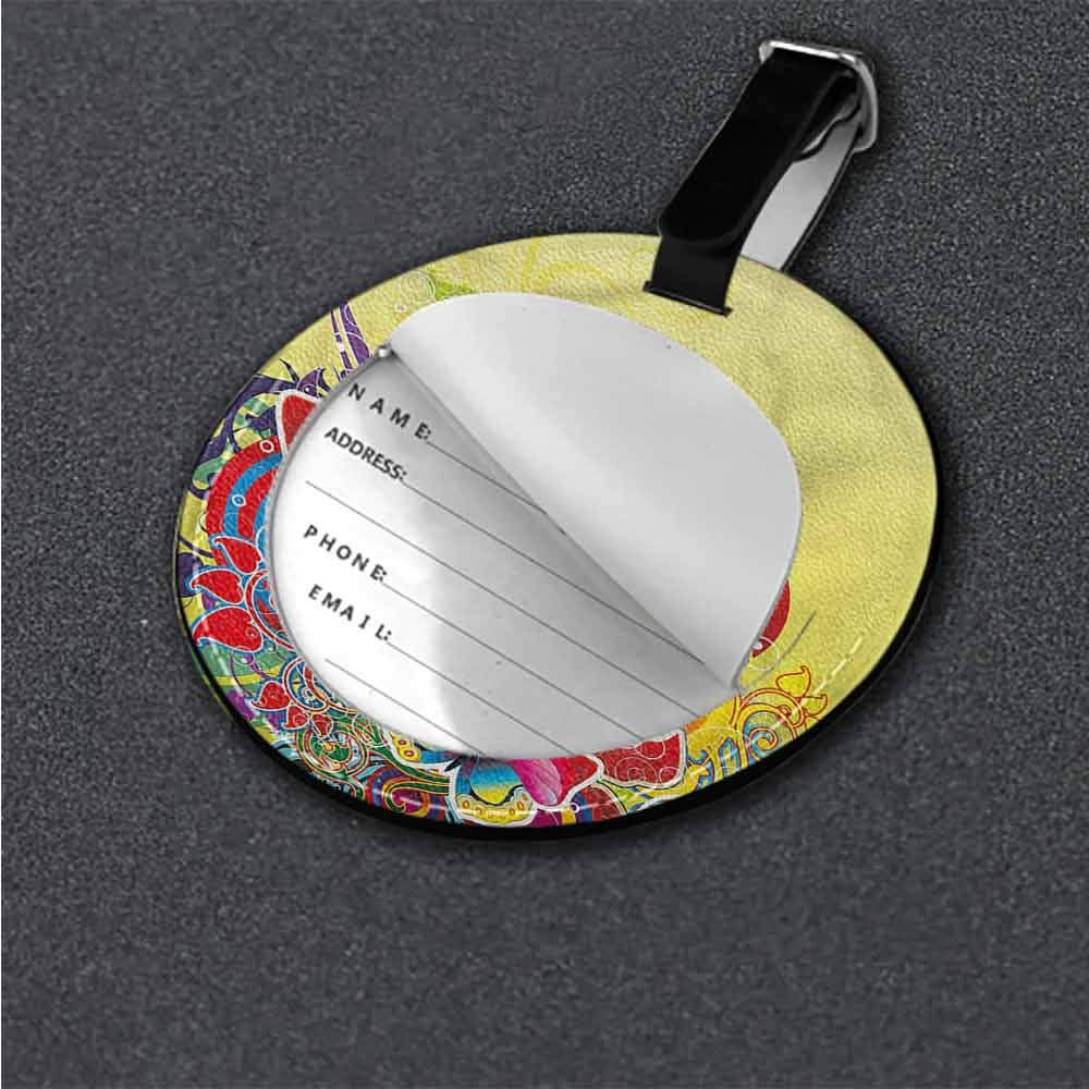 Baggage Tag Abstract,Colorful Spring Butterfly Suitcase Labels Bag