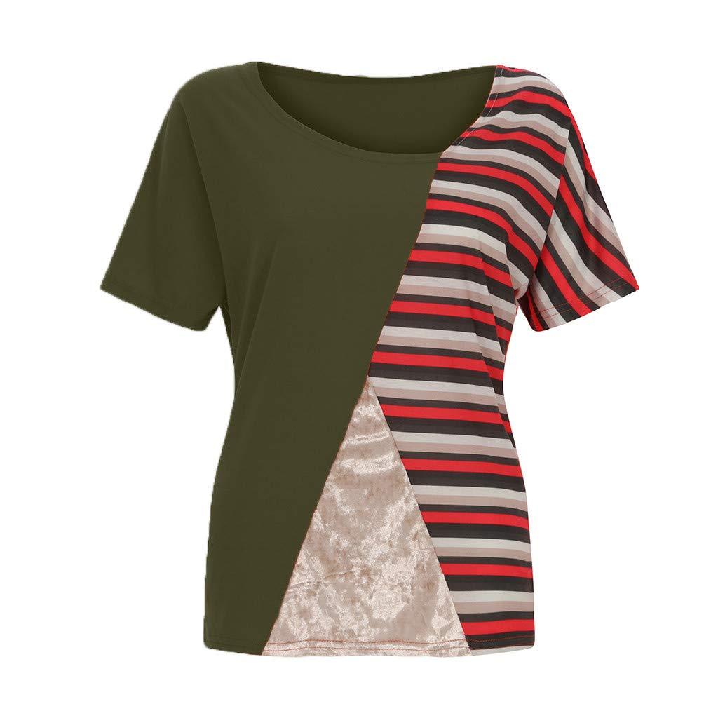 76c92d6c4f89c Haut Femme Chic Ete T-Shirt imprimée Asymétrique Chemisier Grande Taille  Top Blouse Manche Courte de Bureau Travail Bonjouree: Amazon.fr: Vêtements  et ...