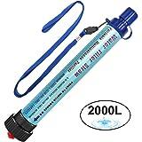 Wasserfilter Outdoor DeFe 2000L Personal Mini Tragbarer Camping Wasseraufbereitung Entfernt 99.99% Bakterien Filter auf 0,01 Microns für Wandern Trekking Reisen Abenteuer und Notbereitschaft