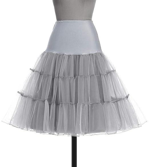 FENGLINZEKANG El Falda de Las señoras Color sólido Tutu Midi Falda ...