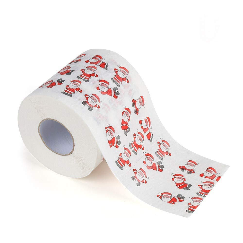 Christmas Toilet Paper,salaheiyodd Home Santa Claus Bath Toilet Roll Paper Christmas Supplies Xmas Decor Tissue (D)