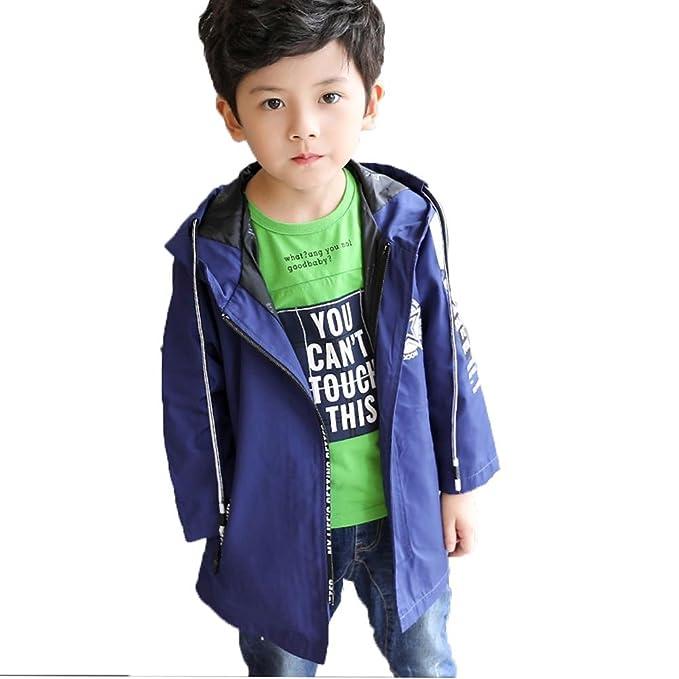 Bambino Vestiti Cappotto Giacca Abbigliamento Ragazzo Autunno Outwear Tops  Giacca a Vento Cappuccio Casual Manica Lunga 9d191e3c6a6