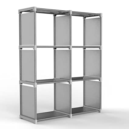 Exceptionnel Jollyoner 3 Tier Storage Cube Closet Organizer Shelf, DIY 6 Cube Bookcase  Cabinet