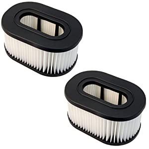 HQRP Filter 2-Pack for Hoover U5161900 U5161-900 U5162900 U5162-900 U5163900 U5163-900 Fold Away Widepath Bagless Upright Vac Vacuum Cleaner Foldaway Coaster