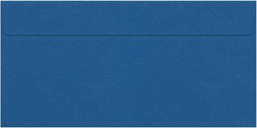 Gold incollaggio a umido con lembo appuntito 100 Umschl/äge dunkelblau formato DIN C5 Buste da lettere con rivestimento metallico 156 x 220 mm