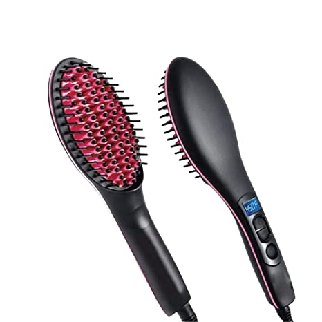 yuancin cepillo alisador de pelo cabello cepillo Peine para desenredar el cabello de cerámica calefacción eléctrica