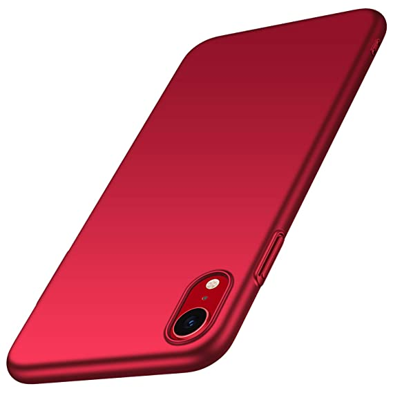 548ed0ecfba Almiao for iPhone XR Case, [Ultra-Thin] Minimalist Slim Protective Phone  Case Back Cover for iPhone XR (Smooth Red)