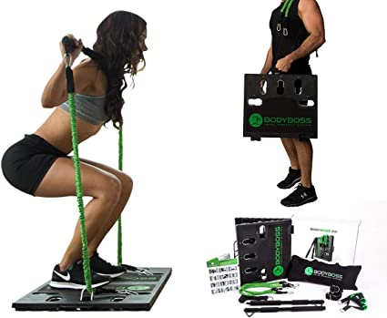 NEW OPEN BOX BodyBoss 2.0 Full Portable Home Gym Workout Package Green