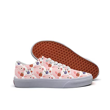 ddd3a513d90b FGBLK Lace Canvas New Year 2019 Pig Baby Poster Women Girls Sneakers  Non-Slip Flat