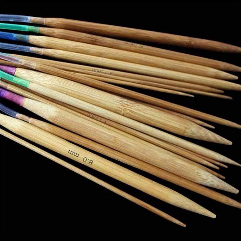 18 tama/ños 24 Pulgadas 2 mm-10 mm DIYARTS 60 cm Juego de Agujas de Tejer Circulares de bamb/ú 47 Pulgadas 31.5 Pulgadas