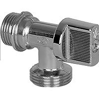 1//2 pouces x 1//2 pouces x 3//4 pouces Chrom/é Waterful T3078113 Robinet /à 3 voies pour machine /à laver