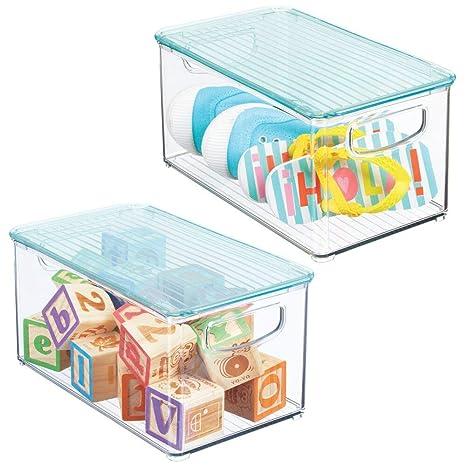 Amazon.com: mDesign - Caja organizadora de almacenamiento ...