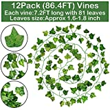 GPARK 12 Pack / Each 82 inch, Artificial Ivy