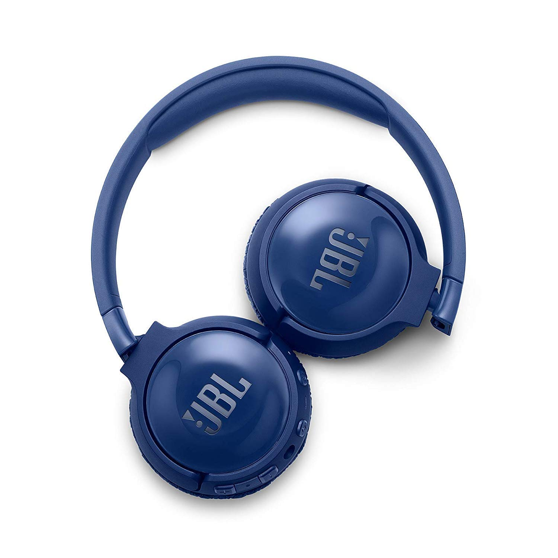 JBL Tune600BTNC Cuffie Wireless Sovraurali con Funzione di Noise Cancelling Cuffie Pieghevoli Bluetooth con Microfono Integrato  Pi/ù di 12 h di Autonomia Blu