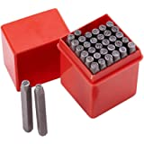 PandaHall Elite 36pcs Iron number Punch , Letter Alphabet A~Z and Number 0~9 Seal Stamps,Black ,4mm Alphabet and number
