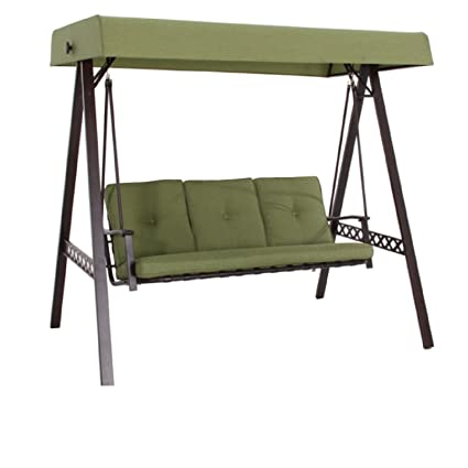 Incroyable New Outdoor 3 Triple Seater Swing Glider Canopy Patio Deck Green
