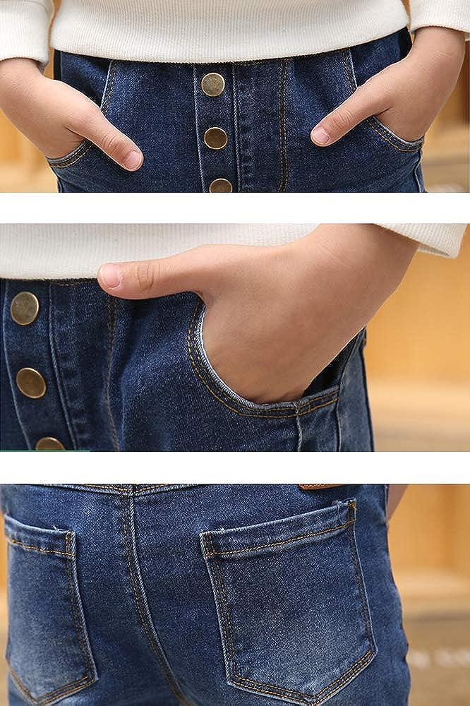 FLOWERKIDS Boys Cotton Jeans Blue Washed Elastic Waist Skinny Denim Pants