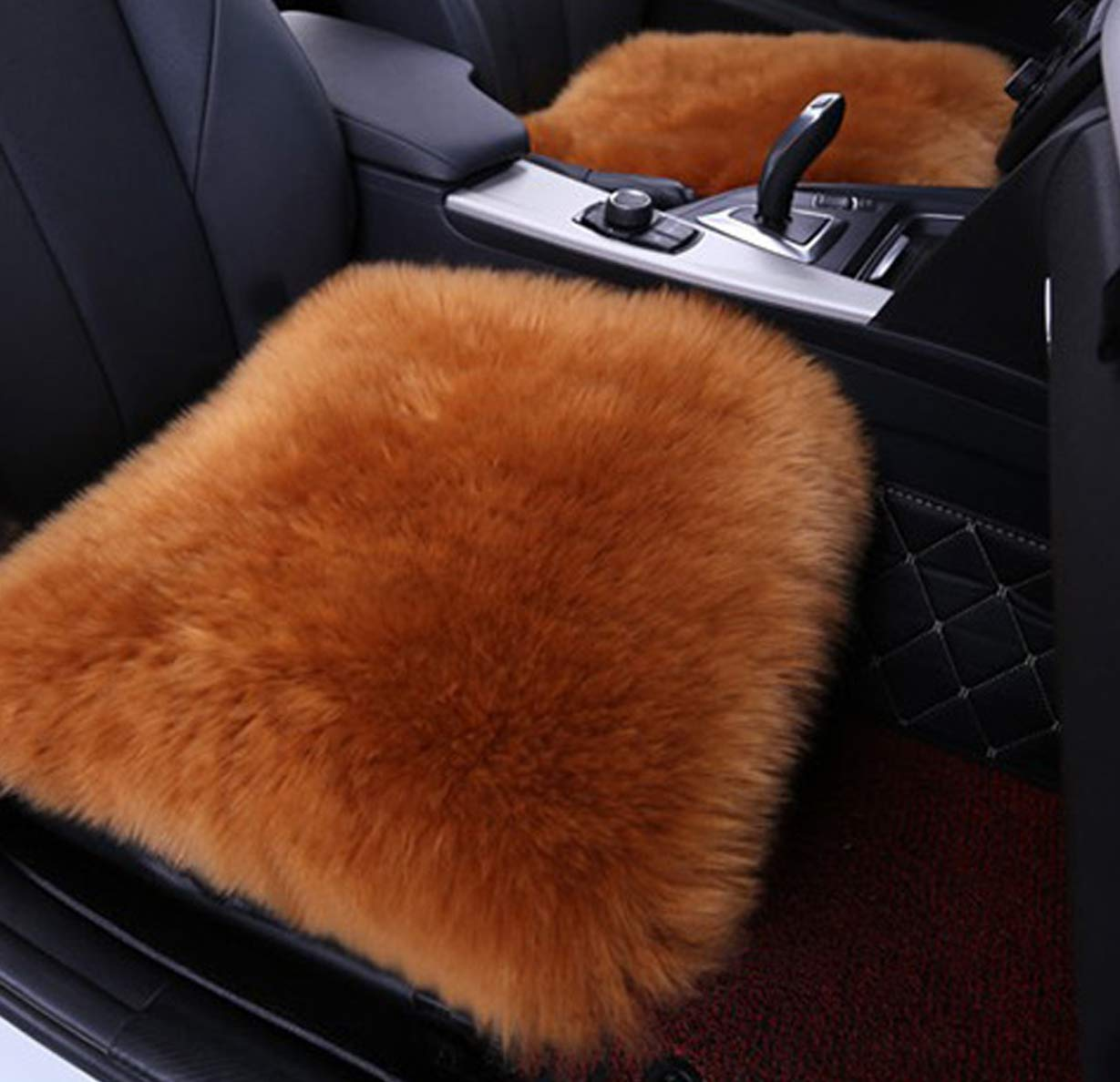 Soft Wool Car Seat Covers Universal Fit Most Car, Truck, SUV,Styling Auto Accessories-Coffee,18 53 inches