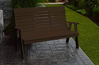 product image for Outdoor Winston Garden Bench - 5 Feet - Tudar Brown Poly Lumber