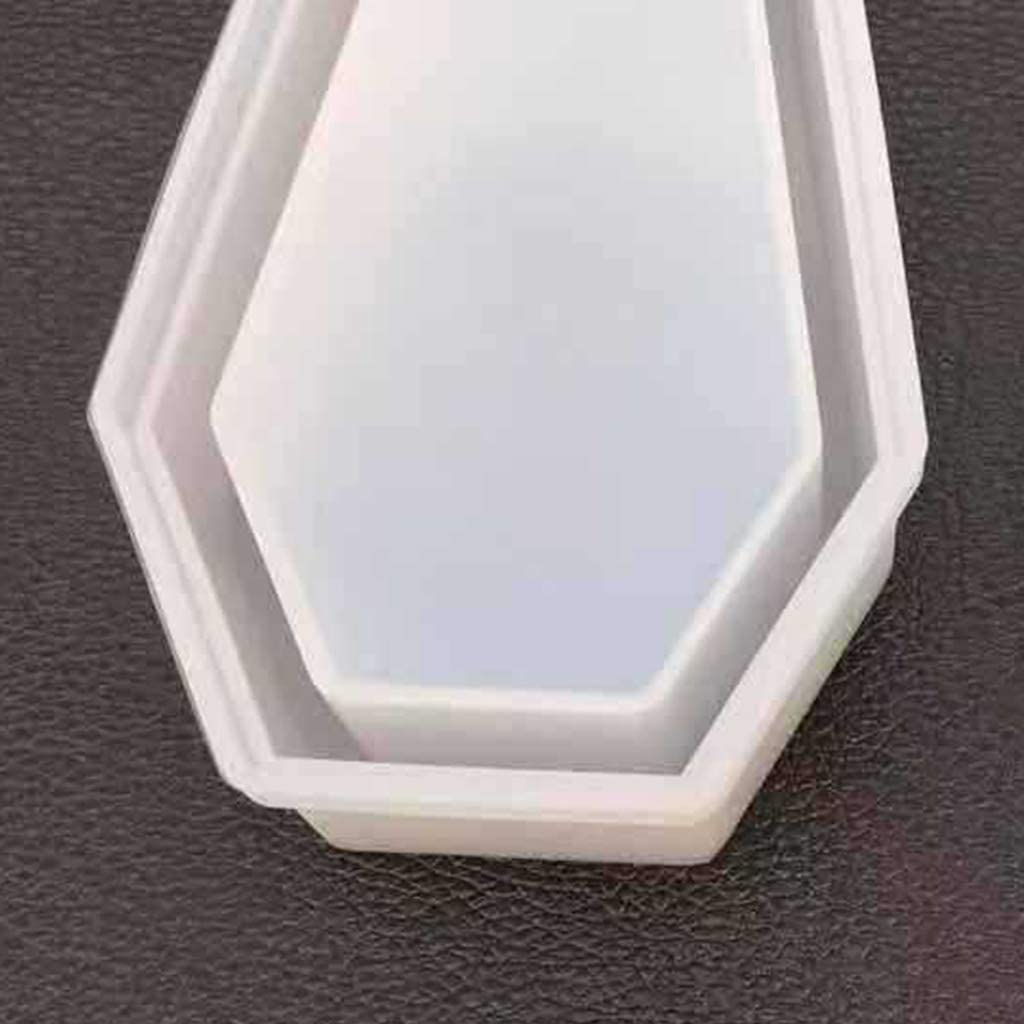 WAOving DIY Crystal Epoxy Mold Storage Box Molds Dark Vampire Coffin High Mirror Crafts Making Mould