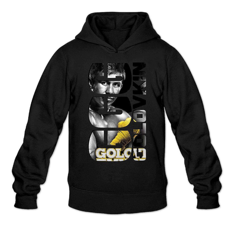 5d6ac5de369 on sale ZZYY Men's Long Sleeve Hoodies Gennady Golovkin GGG Logo Sweatshirt  Black