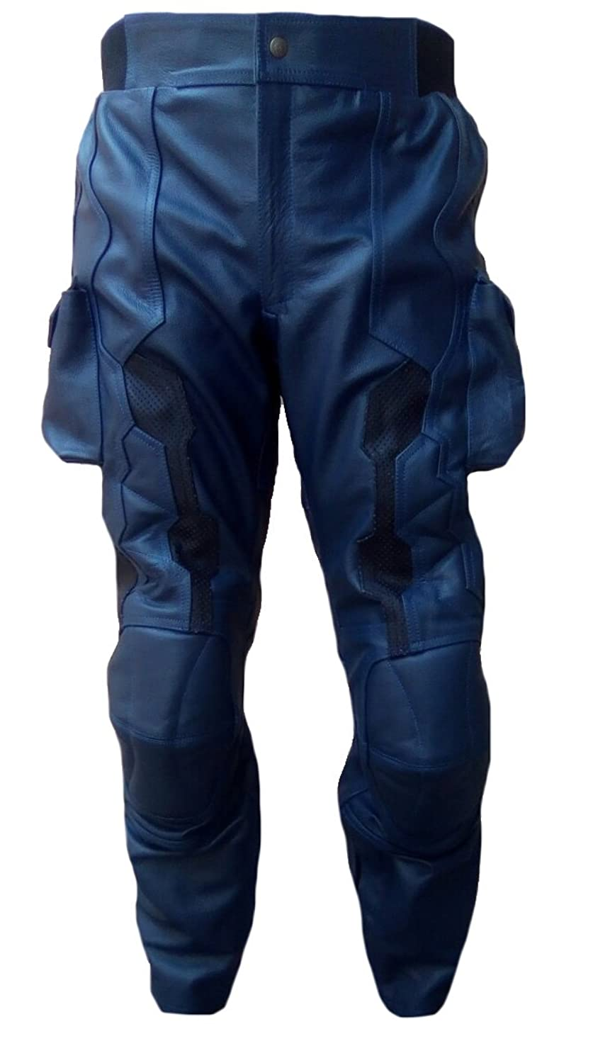 Men's Captain America Winter Soldier Real Leather Motorbike Pants - DeluxeAdultCostumes.com
