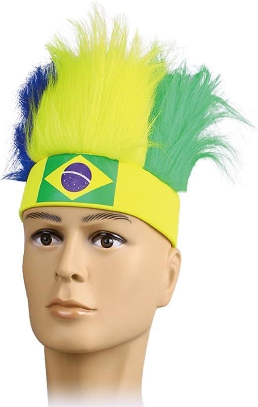 Allbesta Fan de Fútbol Unisex Fan Wig Copa del Mundo Disfraz color ...