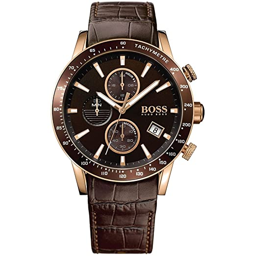 Hugo Boss Men S Chronograph Quartz Watch With Leather Strap 1513392