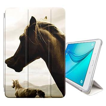 Amazon.com: fjcases negro caballo semental animal función ...