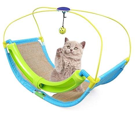 HLMF Multifuncional Juego de Cama para Mascotas Gato Hamaca Cuna Suministros para Mascotas Combinación