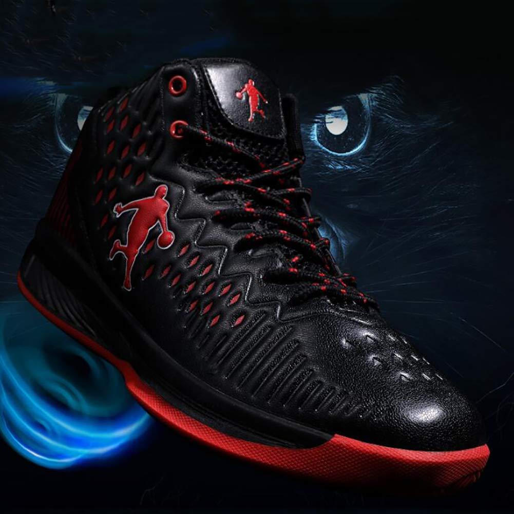 FHTD Herren-Basketball-Schuhe Leistung Stoßdämpfung Basketball Stiefel Stiefel Stiefel Trainer High-Top Mode Turnschuhe leichte atmungsaktive Laufschuh 5d47e1